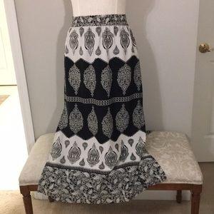 Tolani silk maxi skirt